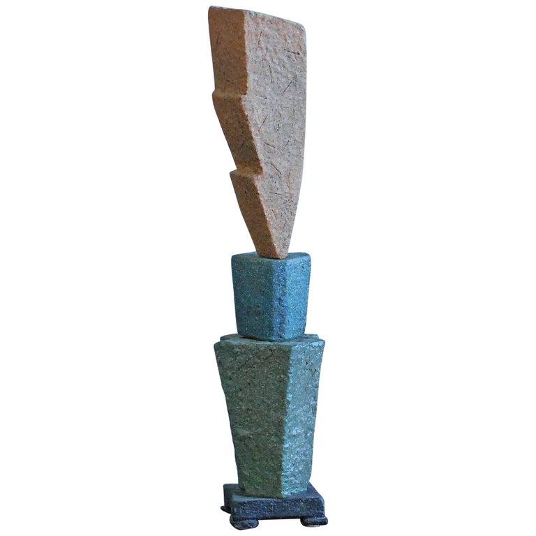 Sculptural Studio Pottery Ceramic Table Lamp, 1980s For Sale