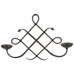 Italian Wrought Iron Wall Candleholder Sconce by Modarchitectura