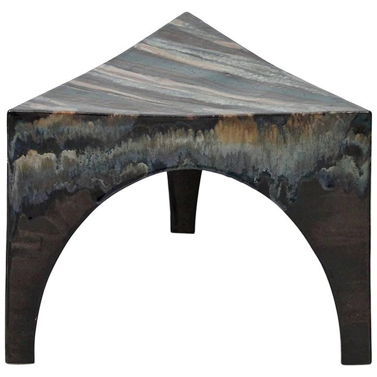 Sculptural Ceramic Stool For Sale