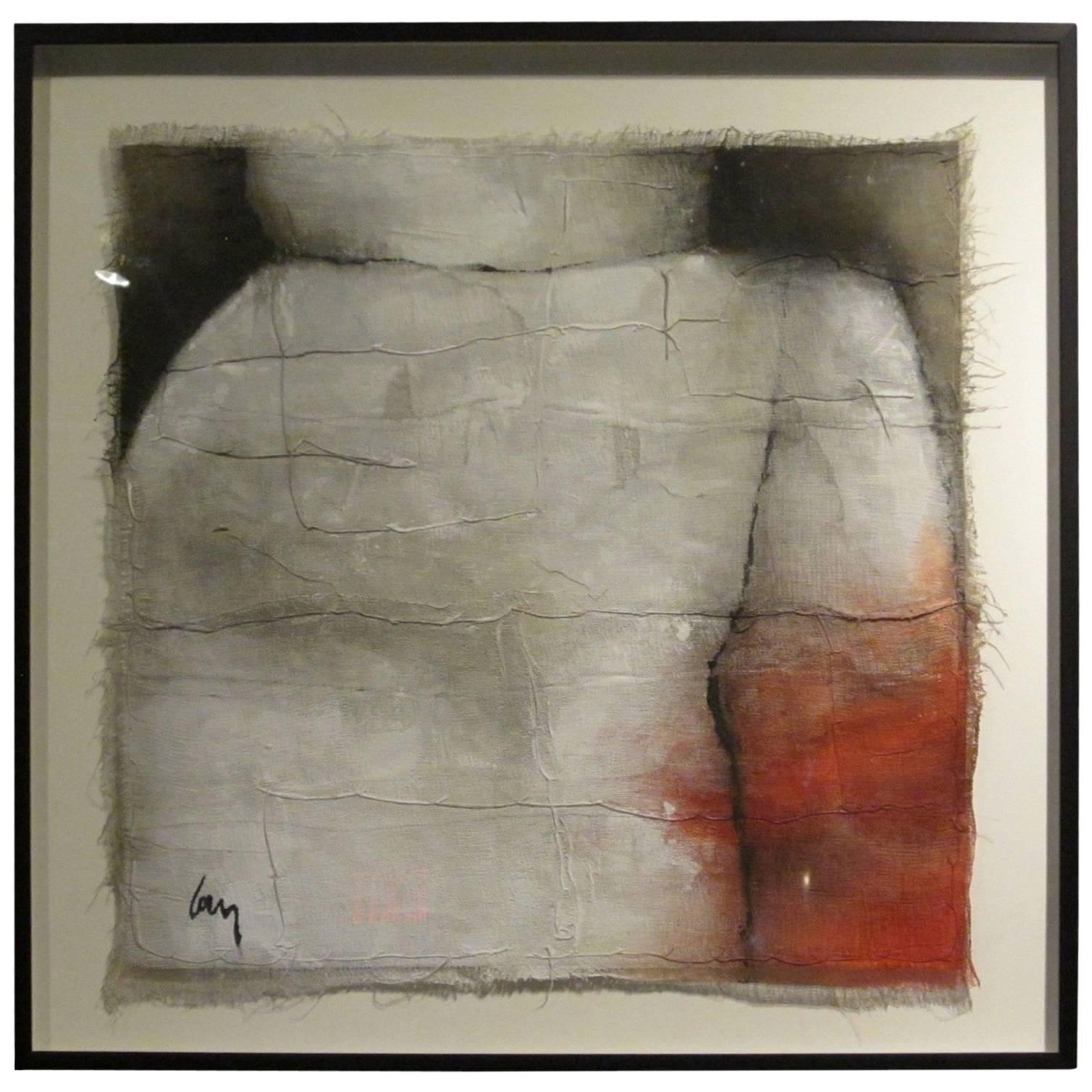 Abstract Painting by Belgian Artist Diane Petry, Contemporary