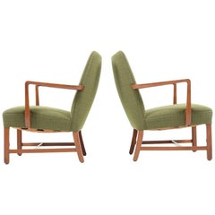 Set of Early Danish Lounge Chairs Probably by Jacob Kjaer, 1930s-1940s