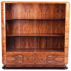 ArtDeco Walnut Display Cabinet from Czechoslovakia by Jindrich Halabala