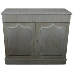 Antique White Painted Cupboard or Buffet, English 19th Century