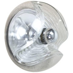 """1970s """"Wave"""" Wall Light by Koch and Lowy for Peill & Putzler, Germany"""