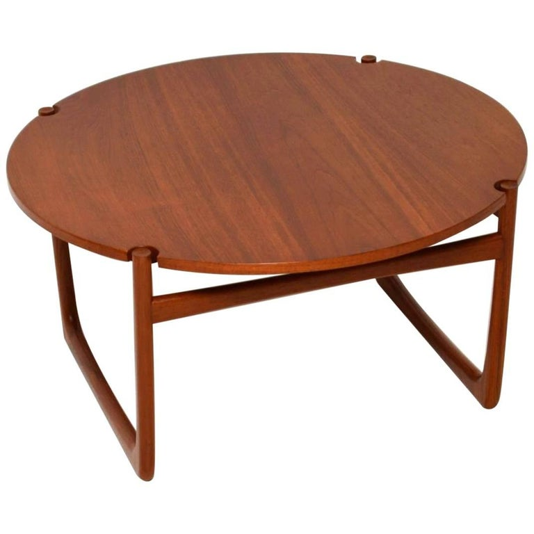 Orla Retro Coffee Table: 1960s Danish Teak Coffee Table By Peter Hvidt And Orla