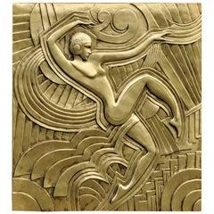 Art Deco 'Folies Bergeres' Wall Plaque