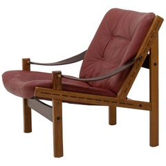 Hunter Lounge Chair by Torbjørn Afdal for Bruksbo Norway, 1950s