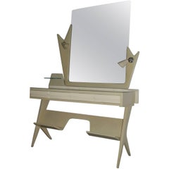 Vanity Mid century Italian modern wood Lacquered Dassi