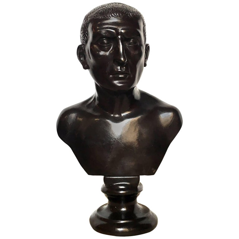 19th Century Italian Bronze Bust For Sale