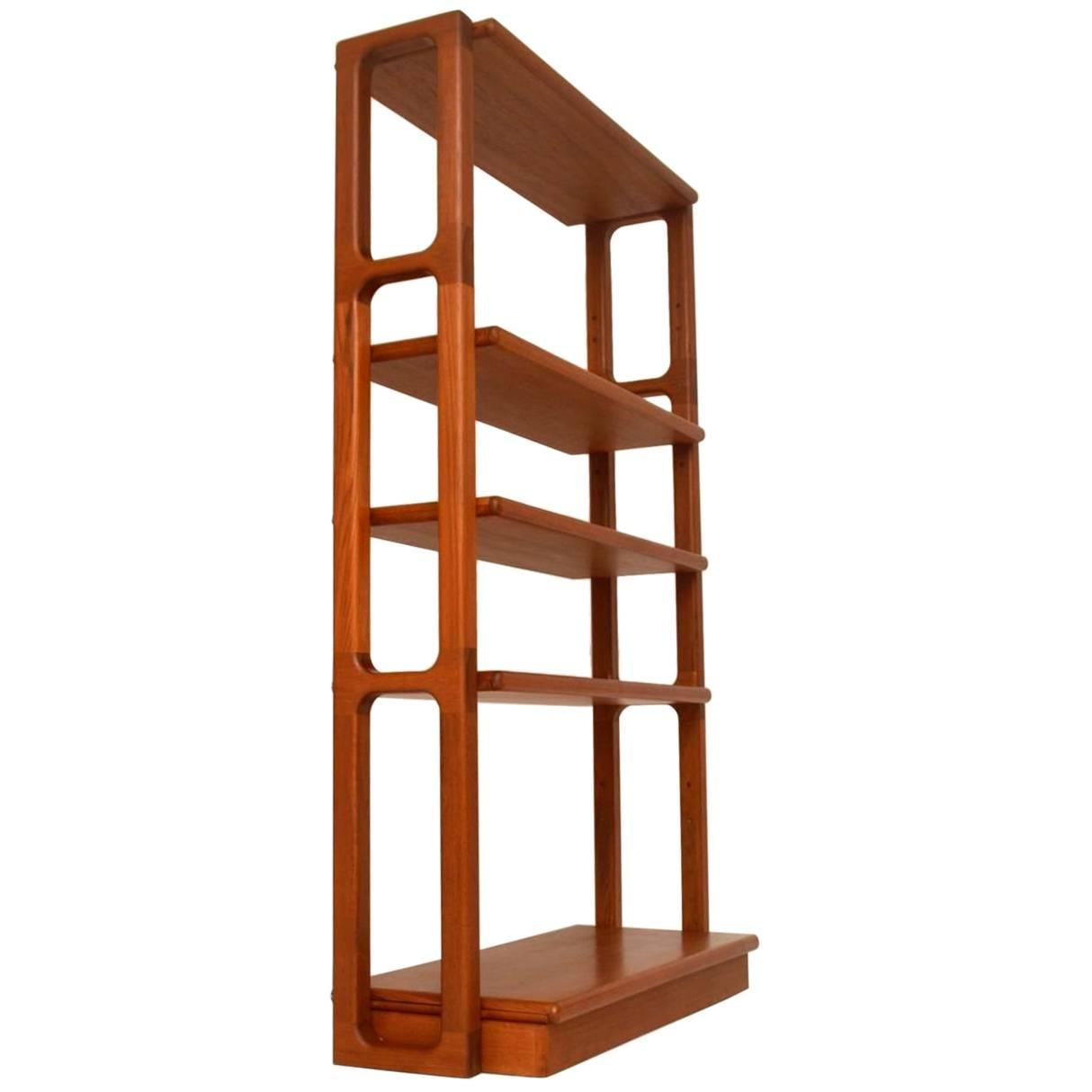 1960s danish teak vintage bookcase or room divider