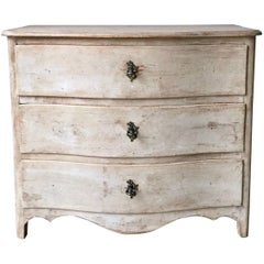 18th Century Swedish Period Rococo Chest of Drawers