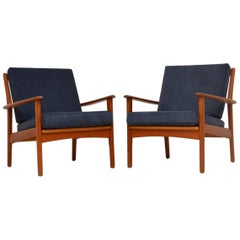 1960s Pair of Swedish Teak Vintage Armchairs