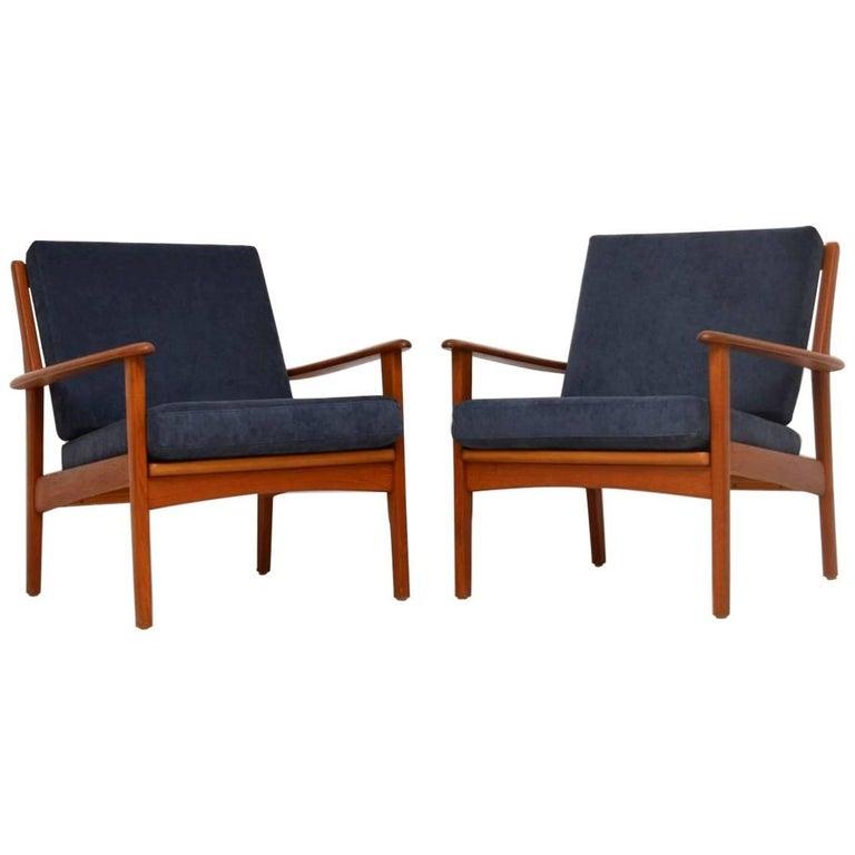1960s Pair of Swedish Teak Vintage Armchairs