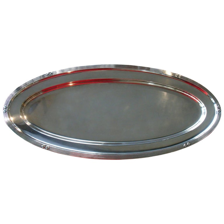 Art Deco WMF Silver Plated Huge Oval Serving Tray