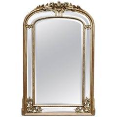 19th Ccentury Louis Philipe Gold Gilded Mirror