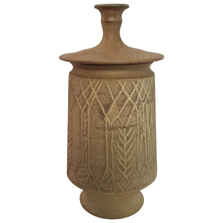 1970s John Masson Studio Pottery Wheat Vessel For Sale