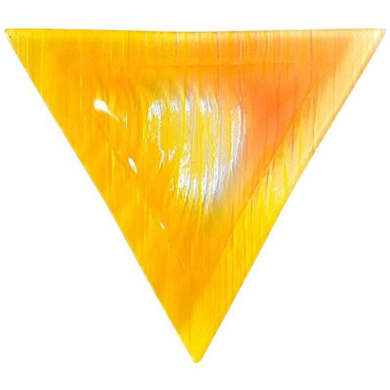 Rare Bright Orange Pressed Glass Ashtray or Bowl, Czechoslovakia circa 1960
