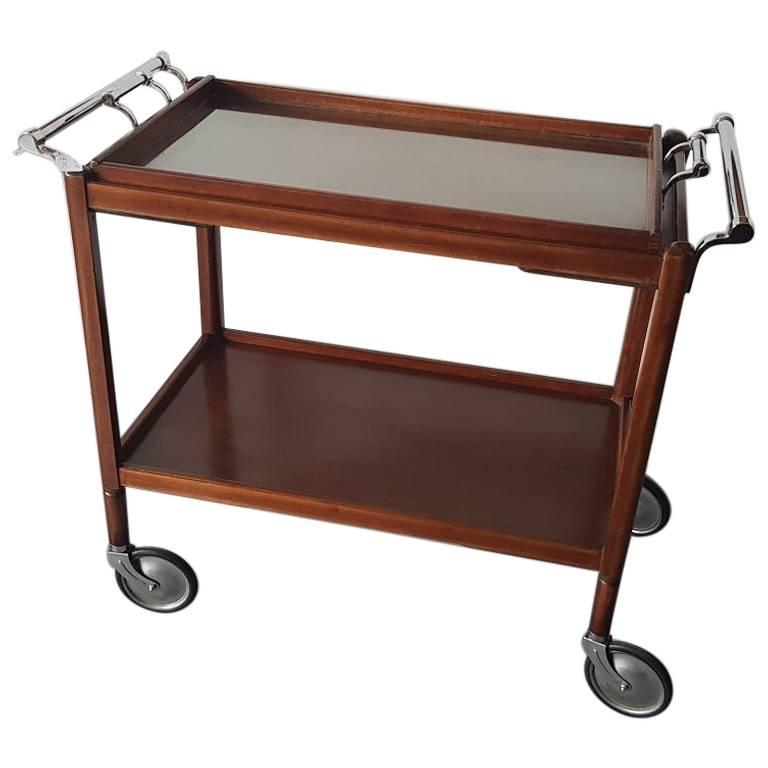 French Mid-20th Century Tea or Bar Cart