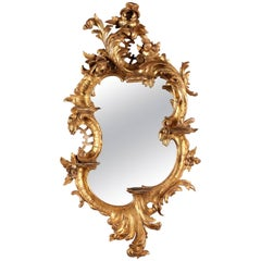 18th Century Venetian Giltwood Mirror with Consoles