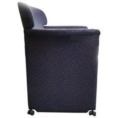 Memphis Style Armchair, Fabric Upholsterd, Italy 1980s.