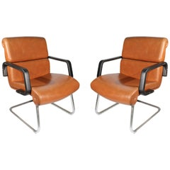 1970s Pair of Spanish Office Armchairs