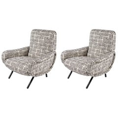 Pair of Lady Armchairs by Marco Zanuso