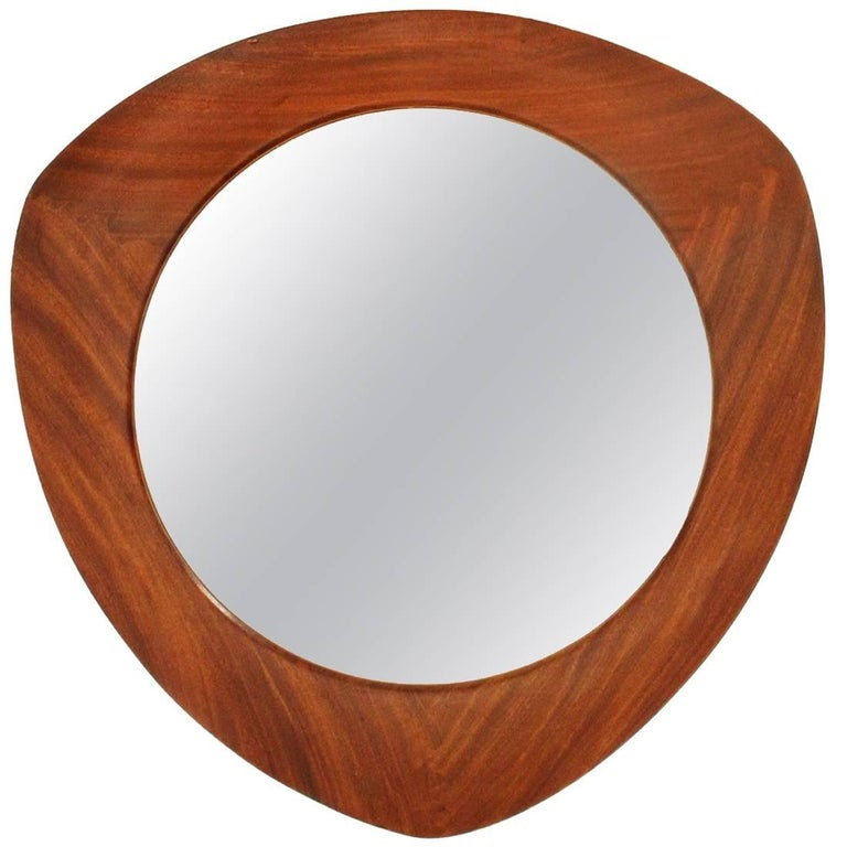 Teak Frame Mirror by Campo e Graffi for Home, 1950s