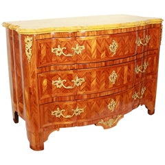 Early 18th Century Gilt-Bronze and Kingwood Parquetry Commode or Chest of Drawer