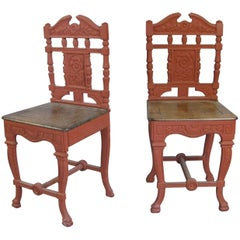 Pair of 19th Century English Cast Iron Chairs