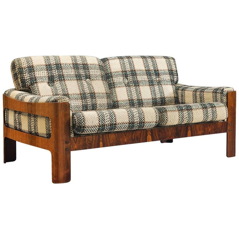 French Two-Seater Rosewood Sofa