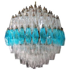 Extraordinary Spherical Poliedri Chandelier,  Murano