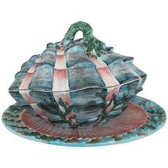 Italian Painted Shell Tureen Set