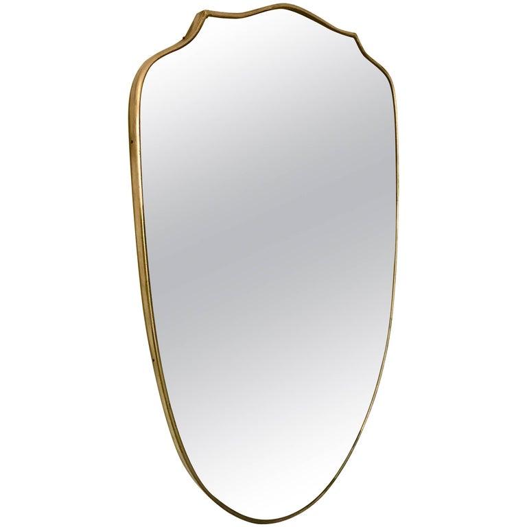 Italian Brass Frame Mirror