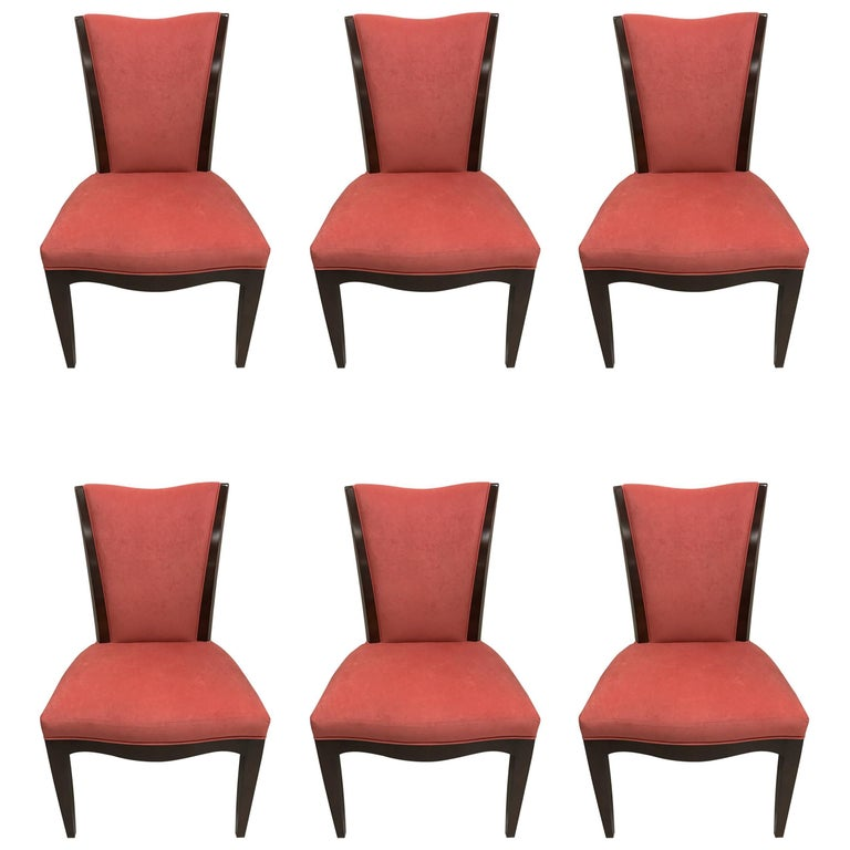 Set Of Six Barbara Barry For Baker Furniture Dining Room Chairs Sale