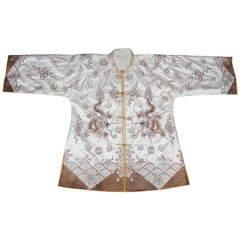 Chinese Silk Gold Embroidered Mandarin Jacket