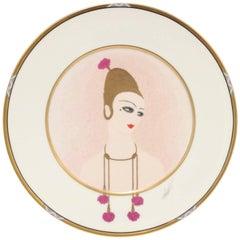 Erte Decorative Plate 'Carnation'