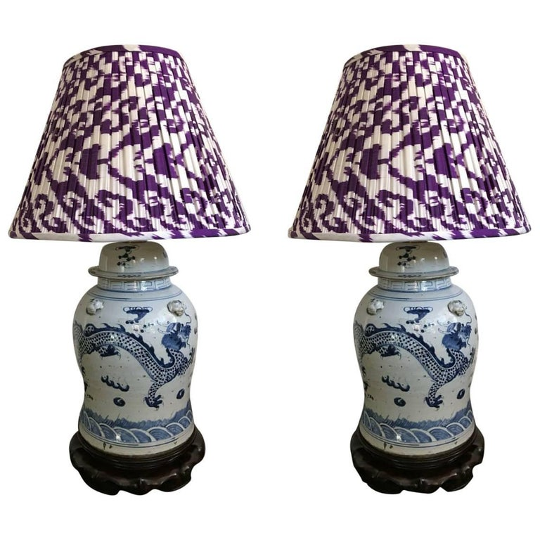 Pair of Ginger Jar Lamps