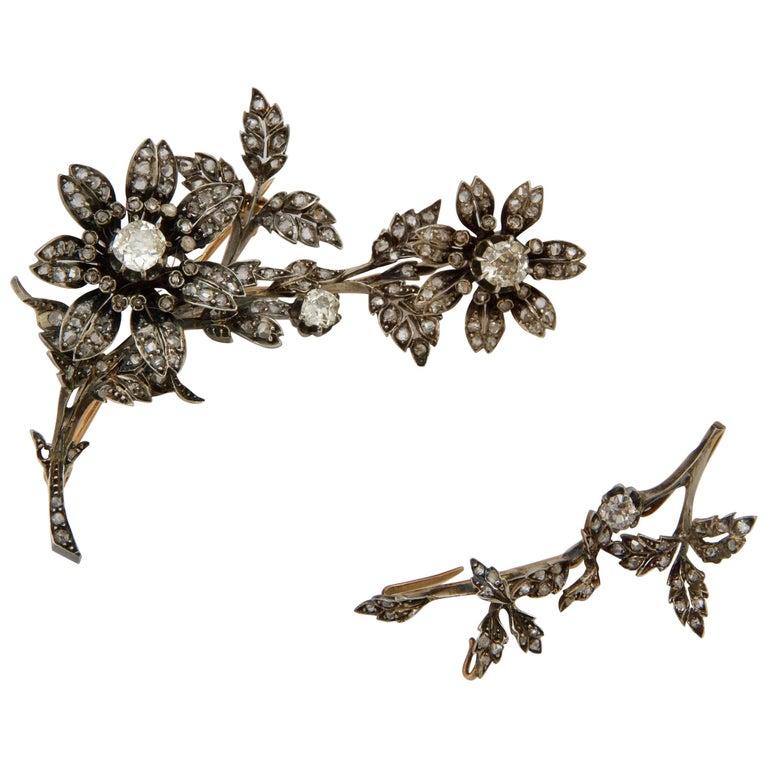 Antique French Diamond Trembleuse/Tiara Combination