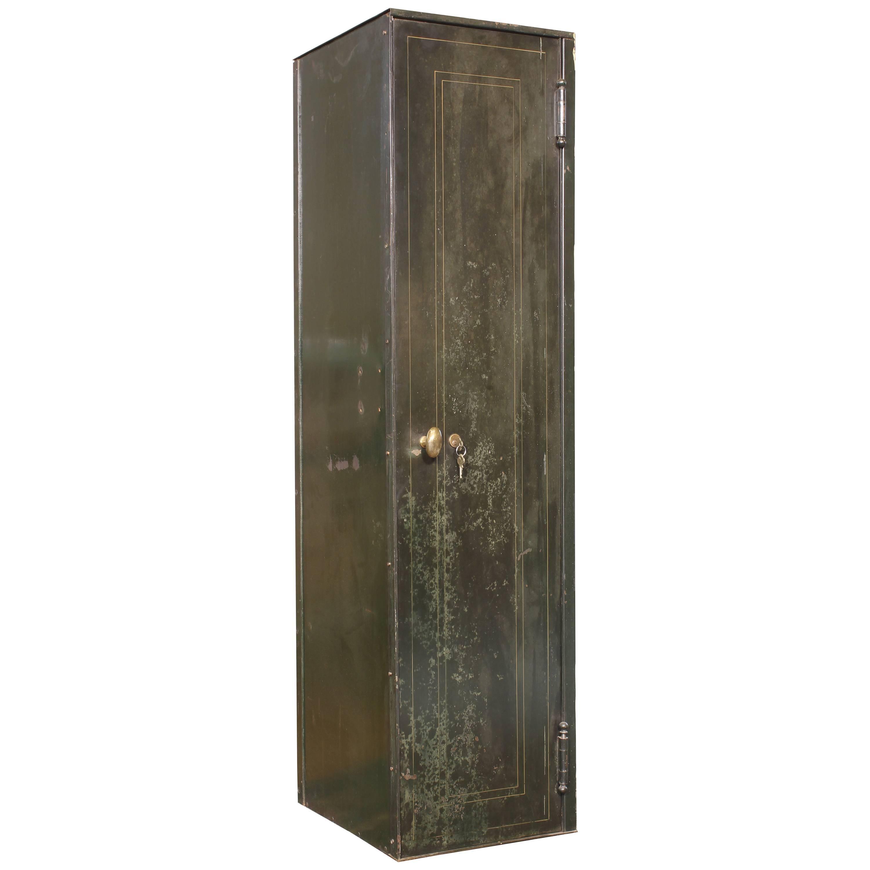 Vintage Distressed Steel Locker Upright Storage Cabinet