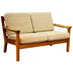 Midcentury Two-Seat Teak Sofa Designed by Juul Kristensen for Glostrup, 1960s