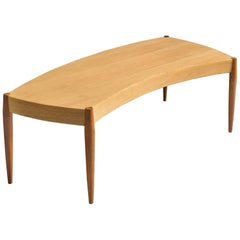 Scandinavian Free-Form Coffee Table with Teak