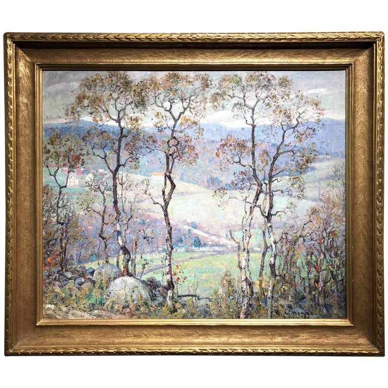 George Loftus Noyes Impressionist Landscape Oil Painting, The Valley