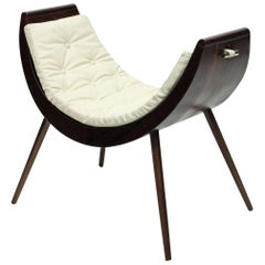 Rita Baiana Armchair/Daybed in Brazilian Modern Design Style Dark Ipê Wood