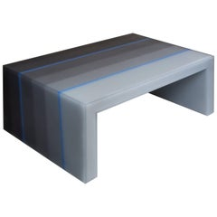 """Coffee Table, Gradient, Gray and Blue Resin"", 2017, Facture Studio"