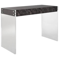 Bond Lindera Wood Desk in Charcoal