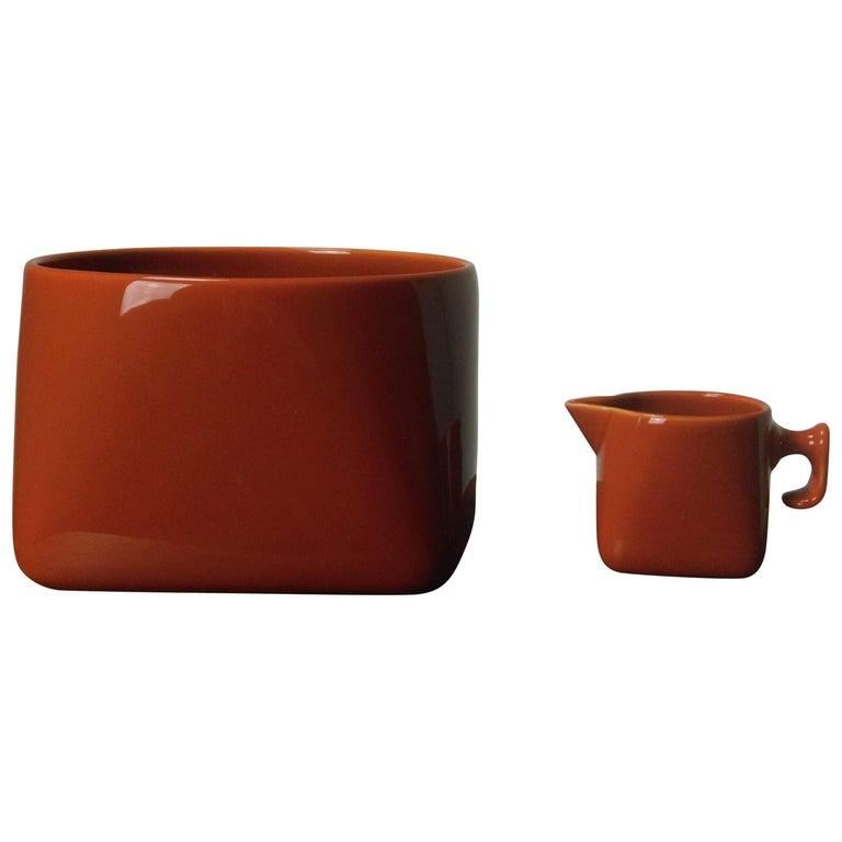 1960s Nanna Ditzel Bowl and Creamer by Nanna Ditzel for Soholm