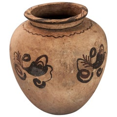 Earthenware Pot with Floral Design Mid-20th Century, Molucca Islands, Indonesia