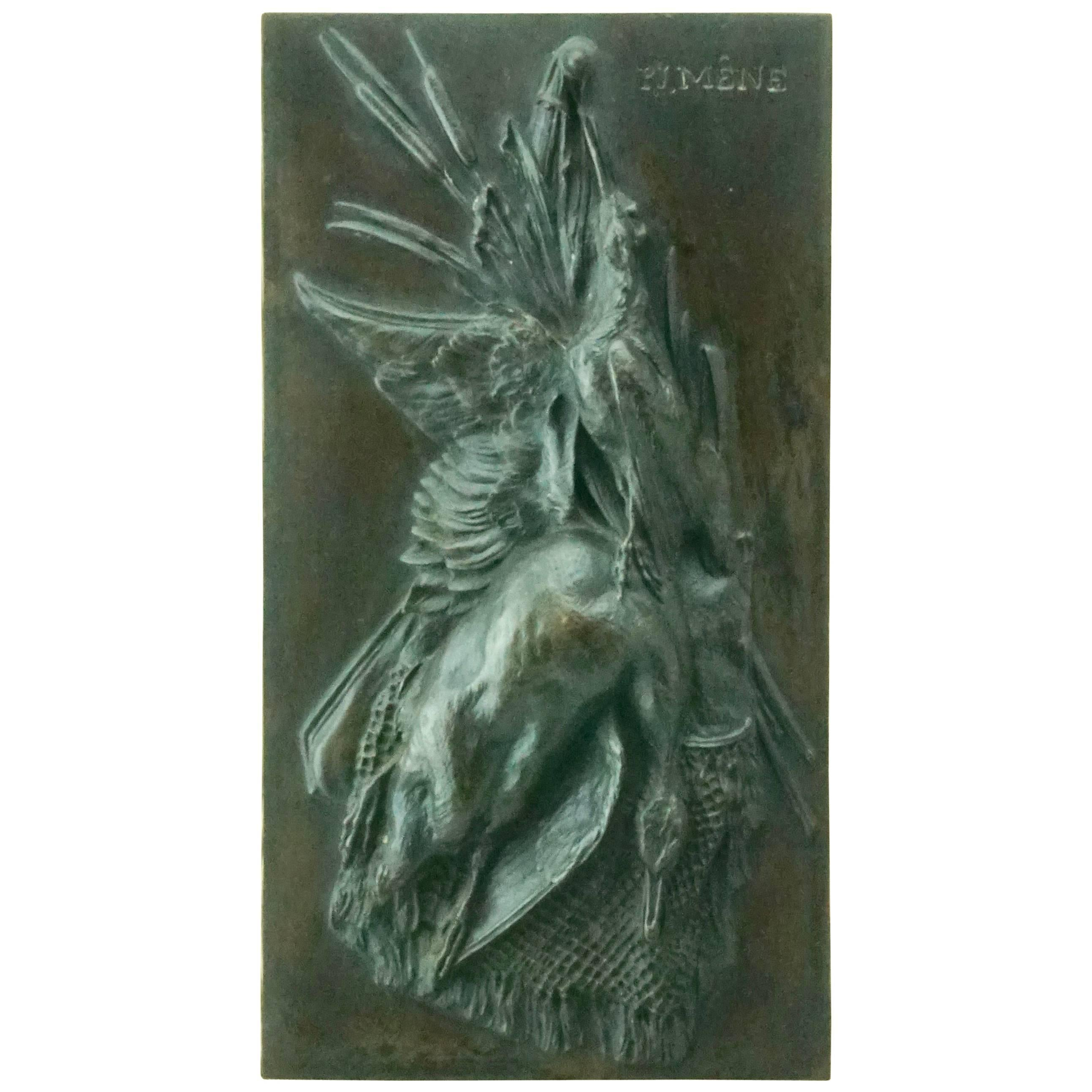 Pierre Jules Mene French Bronze Hunting Game Sculpture