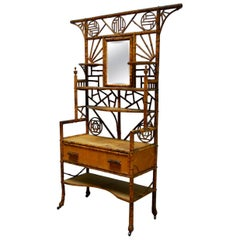 19th Century English Chinoiserie Etagere Dressing Cabinet