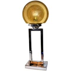 Art Deco Chrome English  Modernist Table Lamp, circa 1930s